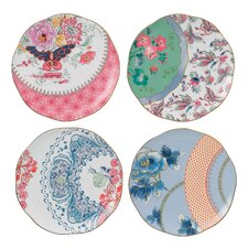 "Butterfly Bloom 8.25"" Plate (Set of 4)"
