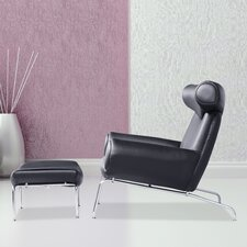 Big Lounge Chair and Ottoman Set by Fine Mod Imports