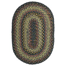 Cotton Braided Enigma Brown Area Rug