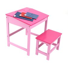 45cm W Writing Desk and Stool Set
