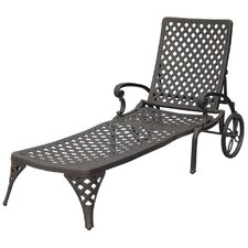 Nassau Chaise Lounge with Cushion by Darlee