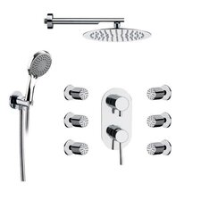 Raniero Diverter Shower Faucet with Body Spray by Remer by Nameek's
