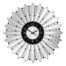 Oversized 60cm Mirrored Metal Wall Clock