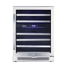 46 Bottle Connoisseur Dual Zone Convertible Wine Cooler