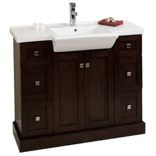 "40"" Single Modern Bathroom Vanity Set"