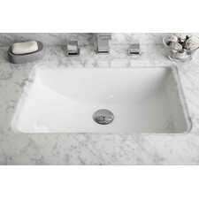 American Imaginations Rectangular Undermount Bathroom Sink With Overflow by American Imaginations