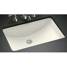 American Imaginations Rectangular Undermount Bathroom Sink with Overflow