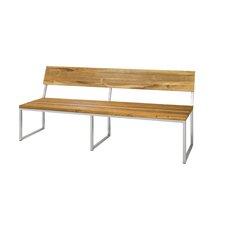Oko Teak / Stainless Steel Park Bench
