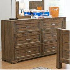 Logan 6 Drawer Dresser by My Home Furnishings
