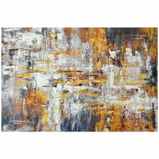 Wall Décor Metallic Painting Print on Wrapped Canvas