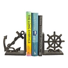 Nautical Iron Bookends (Set of 2)