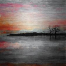 'Painted Sunset' by Parvez Taj Painting Print on Brushed Aluminum
