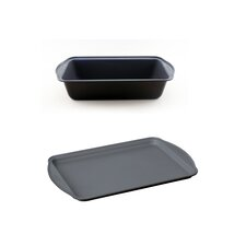 EarthChef Cake Pan & Cookie Sheet Set (Set of 2)