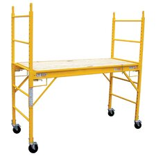 """Pro Series 6.25' H x 74"""" W x 29"""" D Steel Multi Purpose Scaffolding System with 375 lb. Load Capacity Type 2 A Duty Rating"""