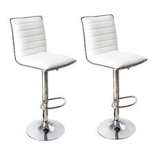 Savoy Adjustable Height Swivel Bar Stool (Set of 2)