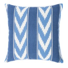 Ikat Stripe Outdoor Throw Pillow