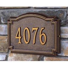 Whitehall 1-Line Wall Address Plaque