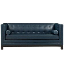 Stately Leather Chesterfield Sofa