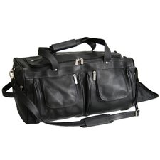 """Luxury Colombian Genuine 21.5"""" Leather Carry-On Duffel"""