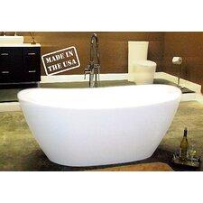 65 L x 34 W Pedestal  Bathtub by Cambridge Plumbing