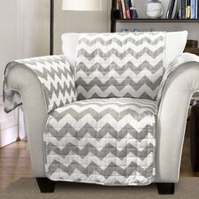 Chevron Arm Chair Protector  by Special Edition by Lush Decor