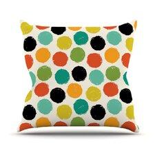 Retro Dots Repeat Throw Pillow