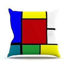 Mondrian and Me by Oriana Cordero Squares Throw Pillow