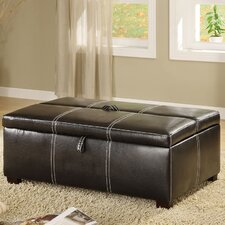 Apolline Sleeper Leather Ottoman by Hokku Designs