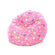 Junior Print and Plush Bean Bag Chair