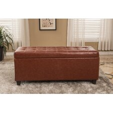 Classic Waxed Texture Storage Ottoman by Bellasario Collection