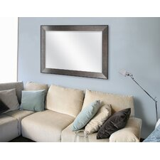 Rectangle Pewter Beveled Wall Mirror