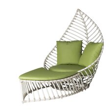 Palm Lounge Chair and Ottoman with Cushion Set by David Francis Furniture