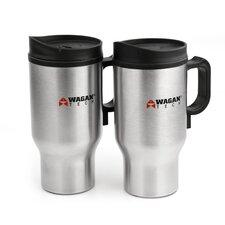 16 oz. Travel Mug with Portable Heating Cord (Set of 2)