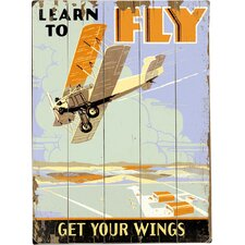 Learn To Fly Graphic Art Multi-Piece Image on Wood
