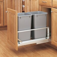 Wooden Tilt Out Trash Can Cabinet | Wayfair