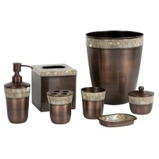 Opal Copper 7-Piece Bathroom Accessory Set