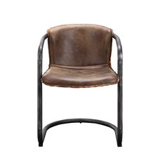Benedict Genuine Leather Upholstered Dining Chair (Set of 2)