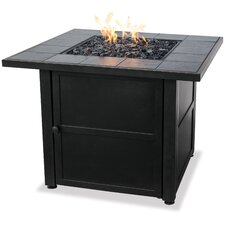 Uniflame Ceramic Tile LP Gas Fire Pit Table