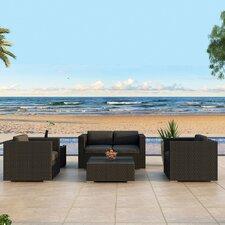 Urbana 4 Piece Deep Seating Group with Cushion by Harmonia Living