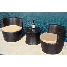 Pineapple 3 Piece Deep Seating Group with Cushion by Harmonia Living