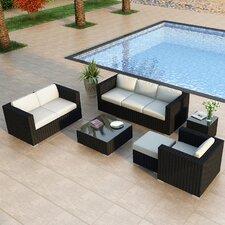Urbana 5 Piece Deep Seating Group with Cushion by Harmonia Living