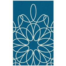 Ribbon Hand-Tufted Turquoise Area Rug