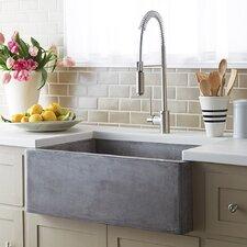 """Farmhouse 30"""" x 18"""" Stone Kitchen Sink"""