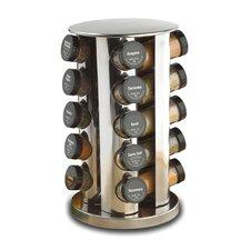 Revolving 20 Jar Spice Jar & Rack Set
