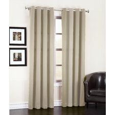 Groton Solid Semi-Sheer Thermal Grommet Single Curtain Panel