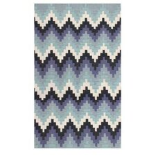 Stairs Blue Outdoor Area Rug