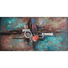 """""""Composition 1"""" Mixed Media Iron Hand Painted Dimensional Wall Décor"""