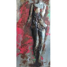 """""""Catwalk"""" Mixed Media Iron Hand Painted Dimensional Wall Décor"""