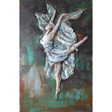"""""""Prima Ballerina"""" Mixed Media Iron Hand Painted Dimensional Wall Décor"""