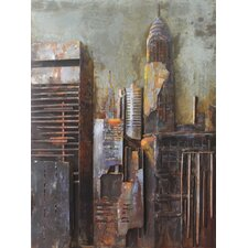 """""""The Chrysler Building"""" Mixed Media Iron Hand Painted Dimensional Wall Décor"""